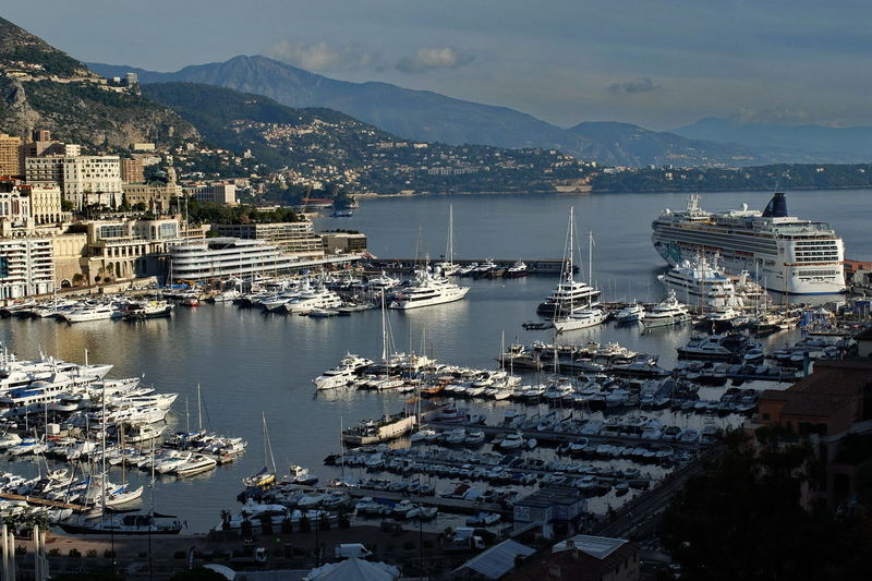 sea port Built Structure City Commercial Dock Day Harbor House Monaco Harbor Monaco Marina Monaco Port Moored Mountain Nautical Vessel No People Outdoors Residential Building Sea Port Monaco Sky Water