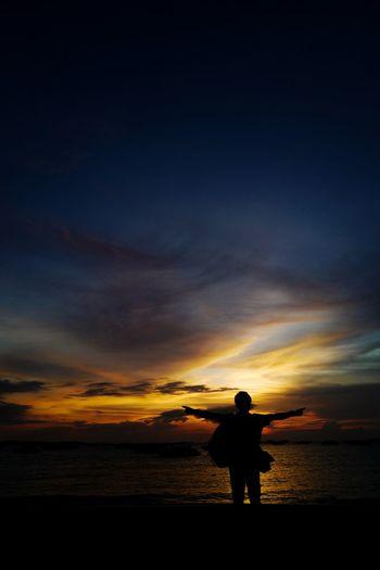 #silhouette Man