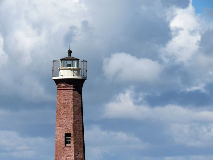 Lighthouse Tower Architecture Building Exterior Built Structure Cloud - Sky Cloudy Day Direction Guidance Lighthouse Low Angle View No People Outdoors Protection Safety Security Sky Tall Tall - High Tower Premium Collection