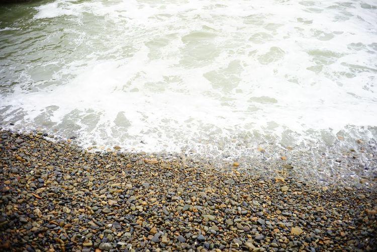 大洗 Water No PeopleBeach High Angle View Nature Sea Wave Full Frame Day Outdoors Beauty In Nature Close-up Pebble Beach 大洗