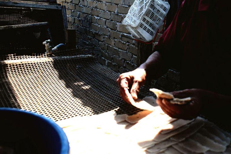 Oldmen Hand Sunnyday Keropok Lekor Keropok Keropok Lekor In Making Journey Of Life Traveling Travelling Photography Terengganu, Malaysia Malaysia Fishermanvillage Village Life EyeEm Selects Human Hand Low Section Close-up
