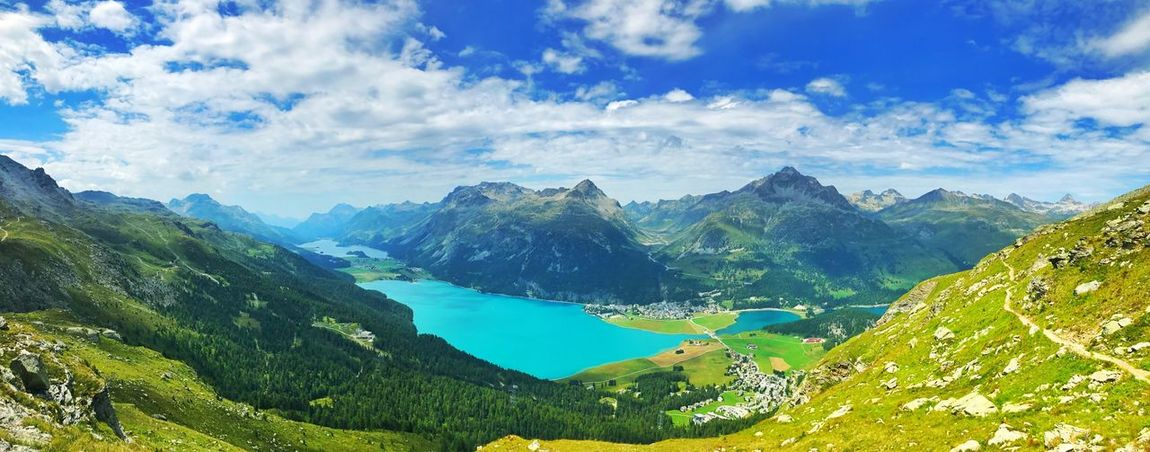 Mountain Sky Mountain Range Scenics Nature Beauty In Nature Tranquil Scene Cloud - Sky Landscape Tranquility Outdoors No People Day Blue Tree Alpen Mountain Alps Alpine Alpen Schweiz 🇨🇭, Schweiz Schweizer Alpen Schweizer Alpenkette