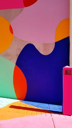 Mural Mural Art Mural Paintings Building Exterior Multi Colored No People Day Pink Building Bright Multicoloured Alley Alleyway Vancouver Vancity Vancityhype Vancitybuzz British Columbia, Canada Background Art Colour Your Horizn