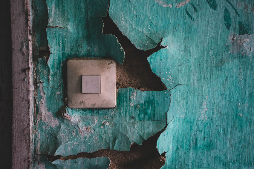 Wood - Material Old No People Weathered Wall - Building Feature Close-up Built Structure Textured  Architecture Run-down Outdoors Day Damaged Entrance Deterioration Abandoned Door Decline Hole Metal Electricity  Turquoise Colored Urbexphotography EyeEmNewHere Eye4photography