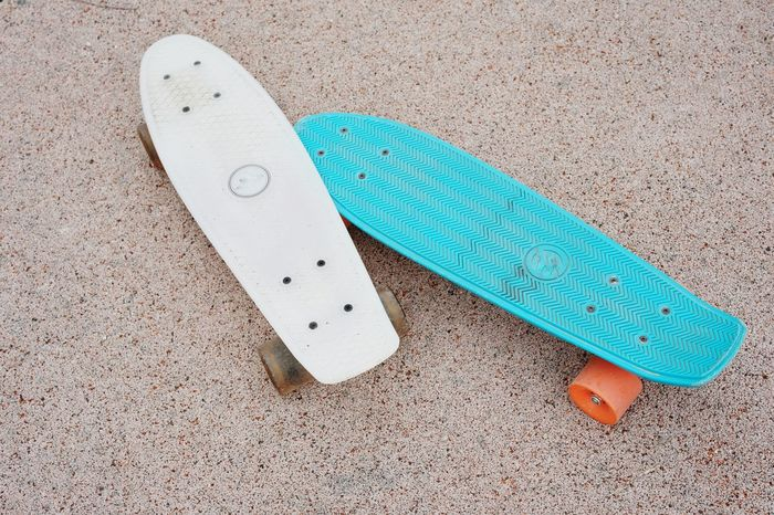 Pair Skateboard Skateboards No People Minimalism Minimal Objects High Angle View Longboard Skating