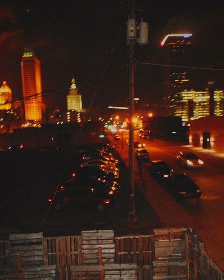 blurry night