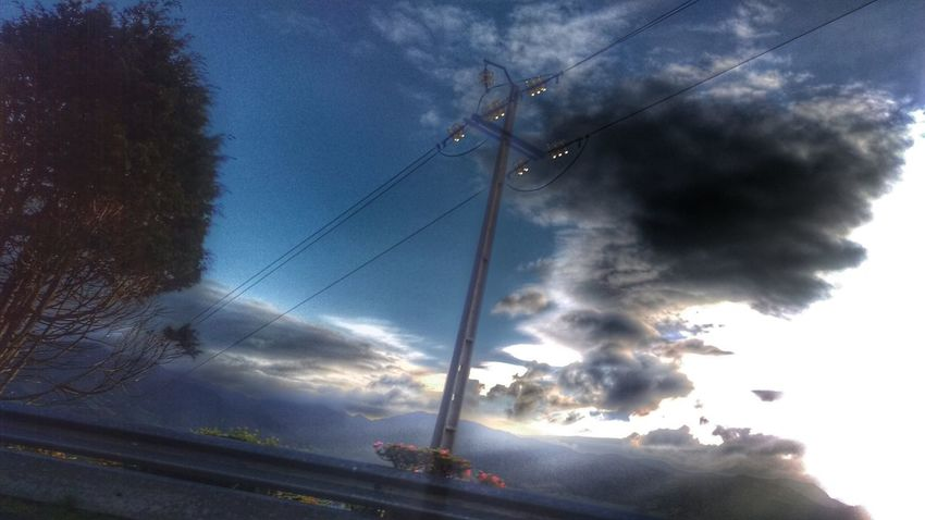 Energy Cable Nature_collection Nature Photography Edited Clouds And Sky Taking Photos On The Road Visitazores Povoação Eyeem Market