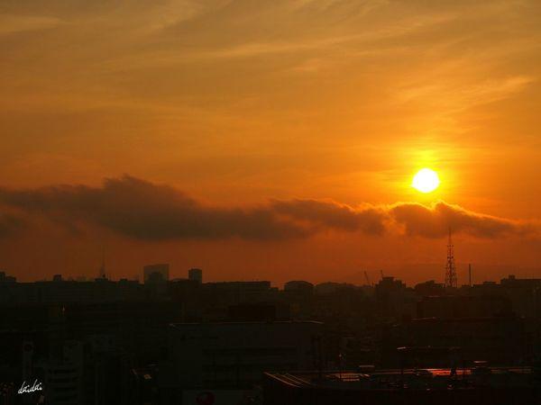 この街で E-PL3 Sky Sunset 逆光部 Clouds