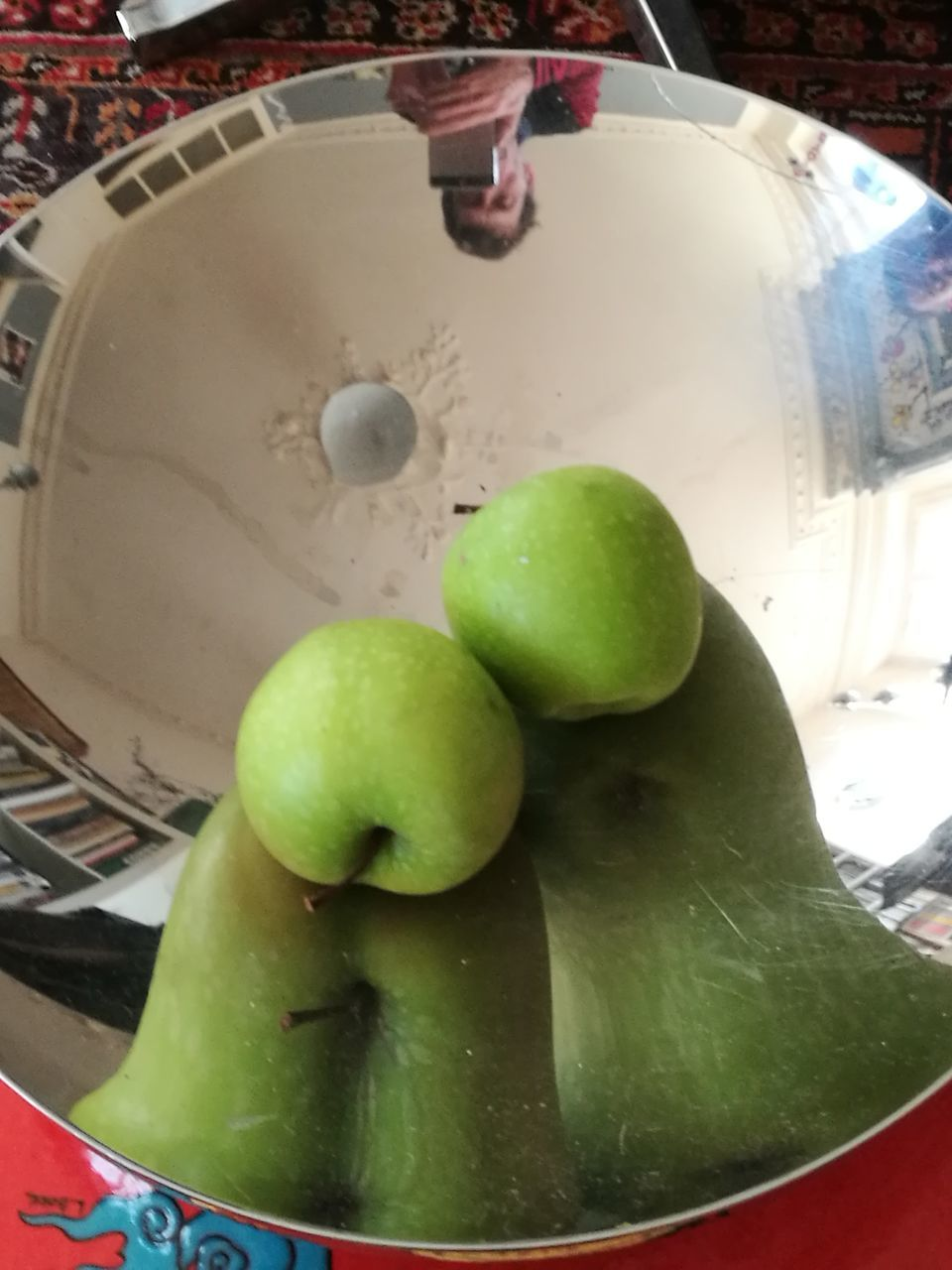 green color, food and drink, fruit, indoors, freshness, healthy eating, food, granny smith apple, close-up, no people, day