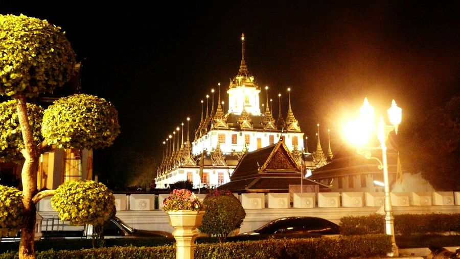 Who has the most beautiful palace Tree In The City Night Golden Palace Thailand Architecture City By Night Outdoor Thailand Gold, Light, Night City Illuminated Architecture
