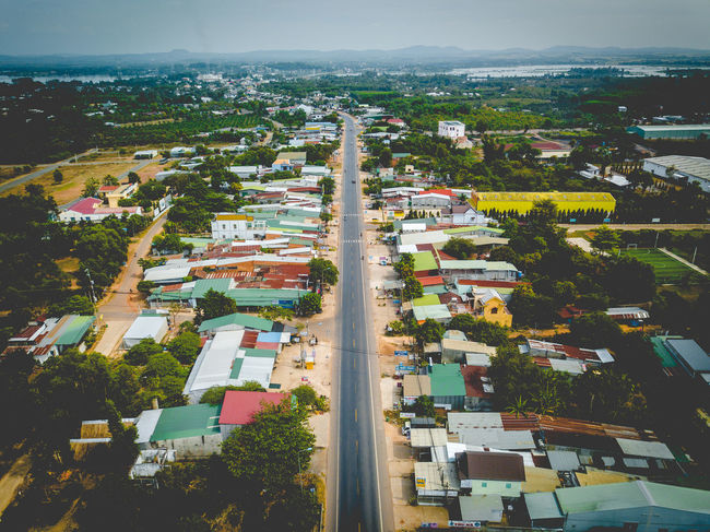 DJI X Eyeem Drone  Road Vietnamese Building Exterior Day Dronephotography High Angle View Nature No People Outdoors Sky Skypixel Tree