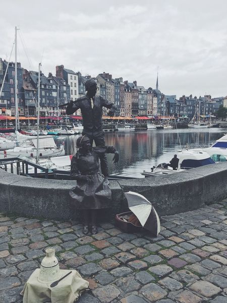 Water Building Exterior Sky Architecture Boat Outdoors Day Clear Sky Honfleur, France Beautiful Beauty France Honfleur