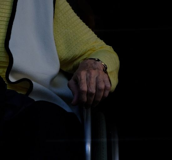 Hands Sitting Waiting Woman Body Part Fingers Hand Human Body Part Human Finger Human Hand Old Hand Old Hands Old Person Old Person Sitting Old Woman One Person People Real People Roll Chair Wheelchair
