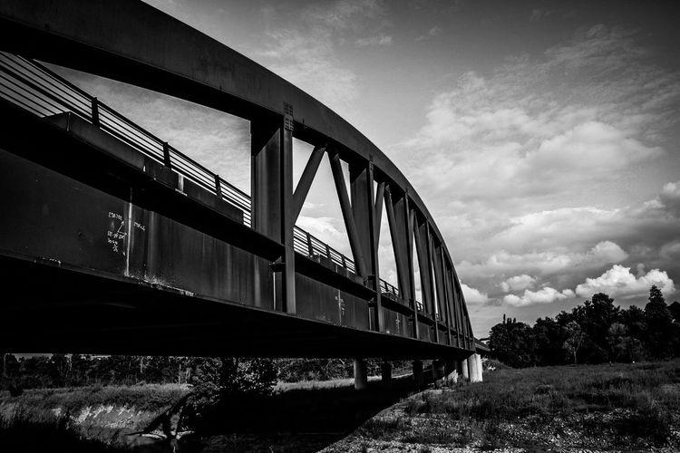 Bridge Blackandwhite Riverside Contrast Grey