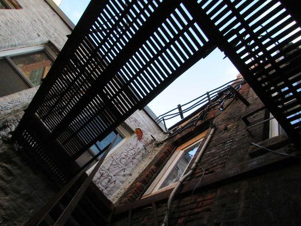 Alley Alleyway Alleyways Architecture Back Alley Broken Windows Built Structure City City Street Day Decrepit Factory Factory Building Graffiti Industrial Industrial Building  Industrial Stairs No People Rust Rusty Smashed Windows Vandalism