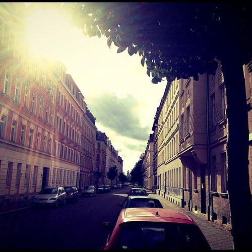#streetview in #leipzig #lindenau Streetview Photooftheday Clouds Follow Summer 20likes Sun Picsta Sunset Vinitque Nature Lindenau Light Behaut Beautiful Sunrise Love Tree Blue Day Leipzig Pretty
