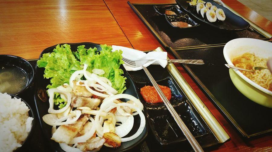 Missing Korean lunches with my oppa. ^_^ Aerenjjang Foodgasm Korean Food First Eyeem Photo