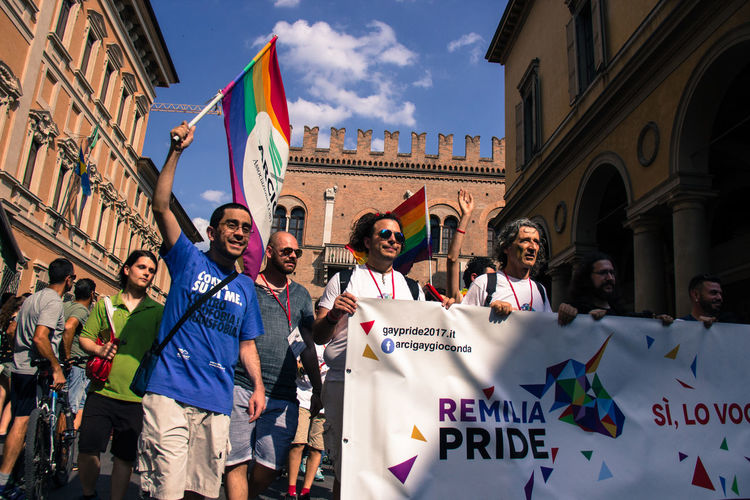 Gay Pride in Reggio Emilia ( 3rd June 2017 ) to protest against Xenophobia, Homophobia and for Gay Marriage and rights City Crowd Flag Gay Pride Large Group Of People Love People Pride Real People The Photojournalist - 2017 EyeEm Awards The Street Photographer - 2017 EyeEm Awards Togetherness