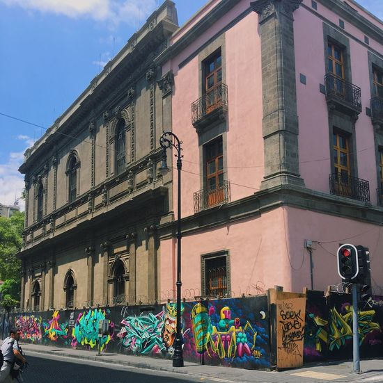 Building Exterior Multi Colored Architecture