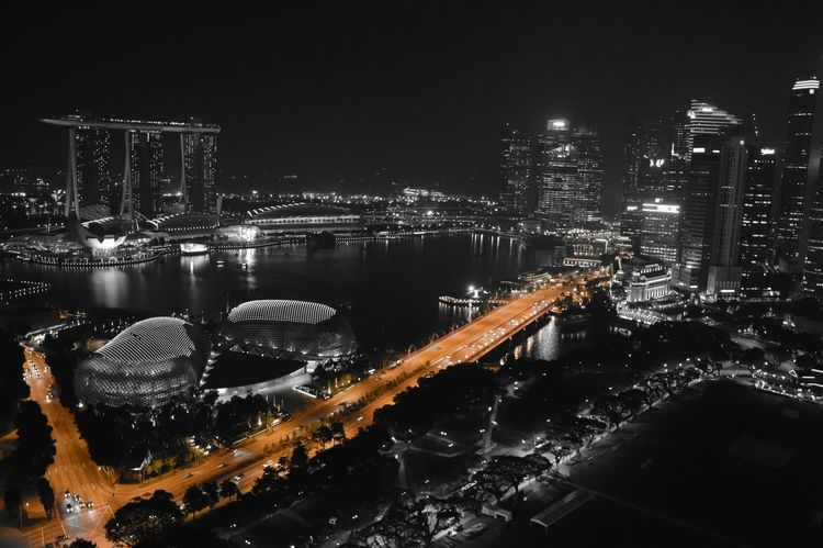 Cityscapes Singapore Travel Marinabaysands Skyline City Lights Cityscape City Skyline Skylines Singapore View Night Nightphotography Night Lights Night Photography Nightlife Night View Colorkey Eyeem Colorkey Seeing The Sights Night Views Landscapes With WhiteWall Fine Art Photography Fine Art