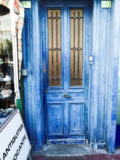 This tired, old door was a must capture. Blue Colour Of Life Distressed Door France Old St Cast Le Guildo Tired