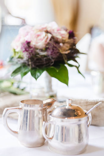 Coffee Time Silverware  Close-up Coffee - Drink Coffee Break Coffee Cup Cup Day Drink Flower Food Food And Drink Freshness Healthy Eating Indoors  Milk Jug No People Refreshment Silver Milk Jug Silver Sugar Box Sugar Box Table Tea - Hot Drink Tea Time Teapot