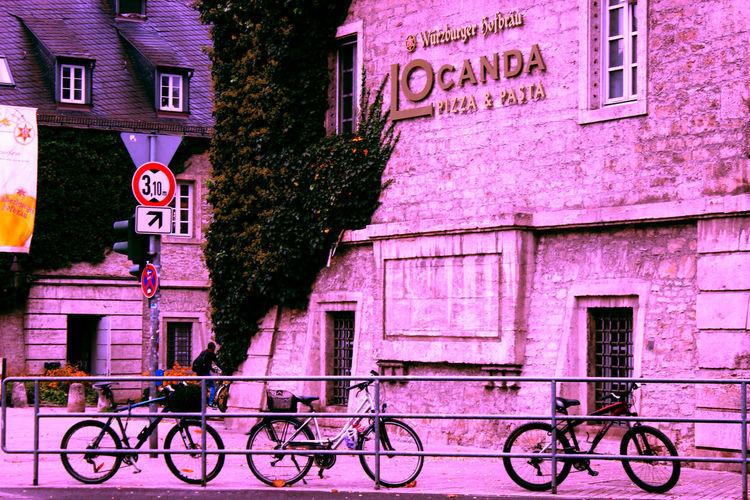 Bikesaroundtheworld Exterior Guidance Information Pink Pink City Sign Symbol