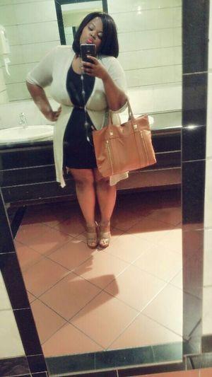 Real Women Have Curves  Plussize FullFiguredAndFabulous WonderfullyMADE BlackDress Mirrorselfie BlackWoman SouthAfrican