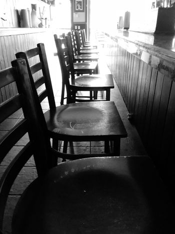 Empty Bar Bar Stools In A Row Bar Sports Chair Table Empty Furniture Seat Absence Wood - Material Indoors  Cafe No People Day