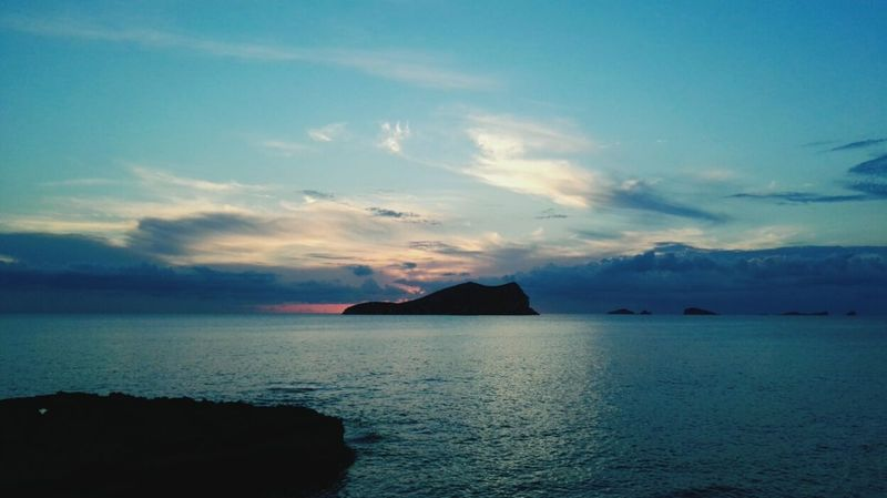 Sea Sunset Landscape Nature Reflection Outdoors Beach Cloud - Sky Water Beauty In Nature Horizon Over Water Scenics Sky No People Summer Blue Tranquility Natural Collection Heaven On Earth Heavenly Sky Heaven And Earth Ibiza, Spain The Great Outdoors - 2017 EyeEm Awards