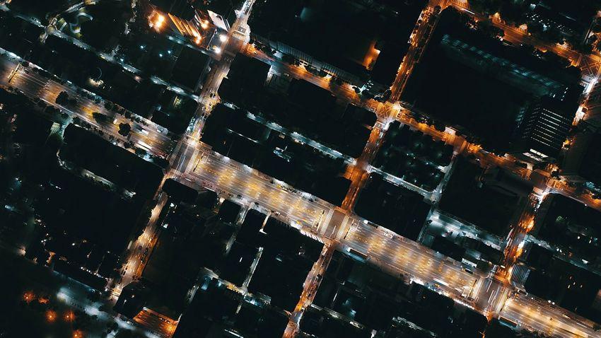 Night City Architecture Cityscape Mavic Pro Nightlight Droneshot Bird View Drone  Aerial View Drone Photography