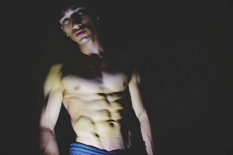 In the dark is sometimes better Abs Body & Fitness Body Health Workout Gym Shirtless That's Me Billal Quetta