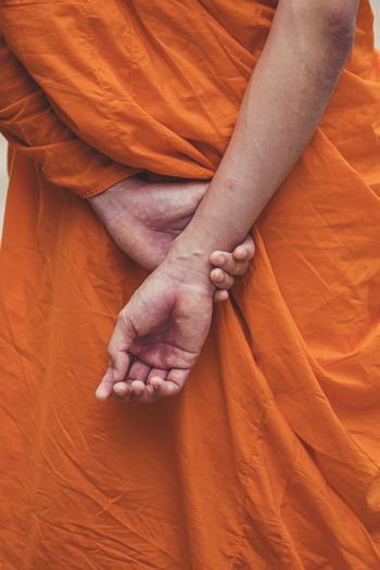 Midsection of monk