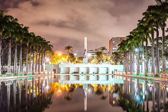 Reflection Tree Water Travel Igniting Arrival Palm Tree Business Finance And Industry Night Travel Destinations Tranquility Outdoors Sky Reflection Lake Landscape Backgrounds Multi Colored City No People Architecture