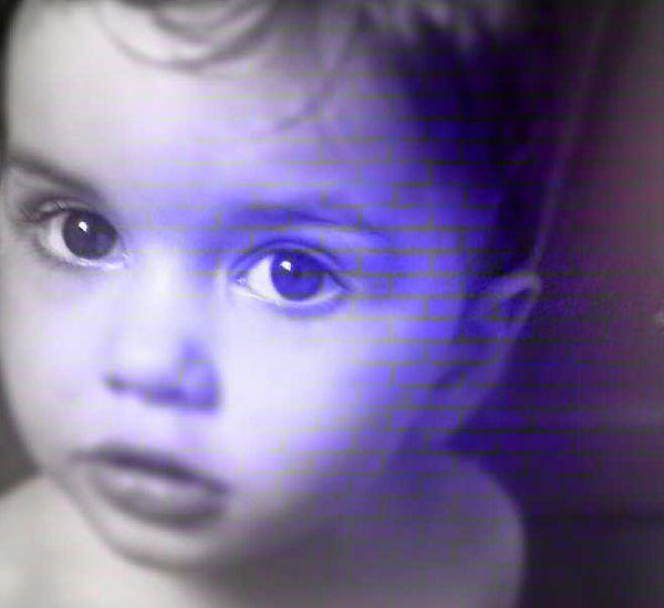 Face Child Purple ♥ Photo Blending