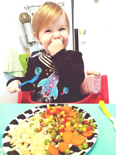 One Person Eating Food And Drink Lifestyles Indoors  Front View Babies Only Portrait Food Childhood Winter 2017 January 2017 Love My Family Love My Nephew Alexander Little Boy Close-up