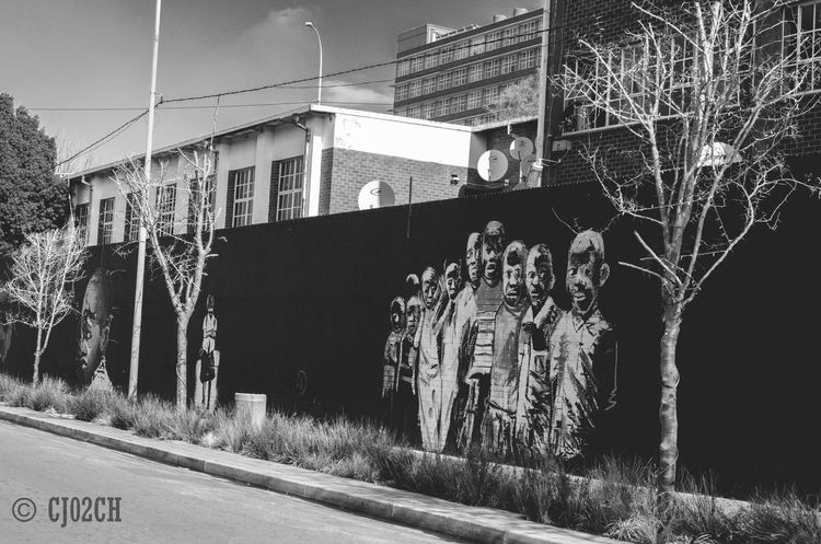 Architecture Black And White Building Built Structure City Day Greyscale Maboneng Precinct No People Outdoors Sky