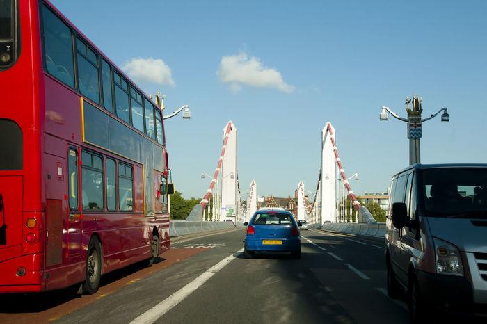 Chelsea Bridge - London - UK City London Red Bus United Kingdom Built Structure Bus Car Chelsea Bridge Double Decker Bus England Street Transportation Uk