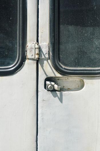 Close-up of car windows