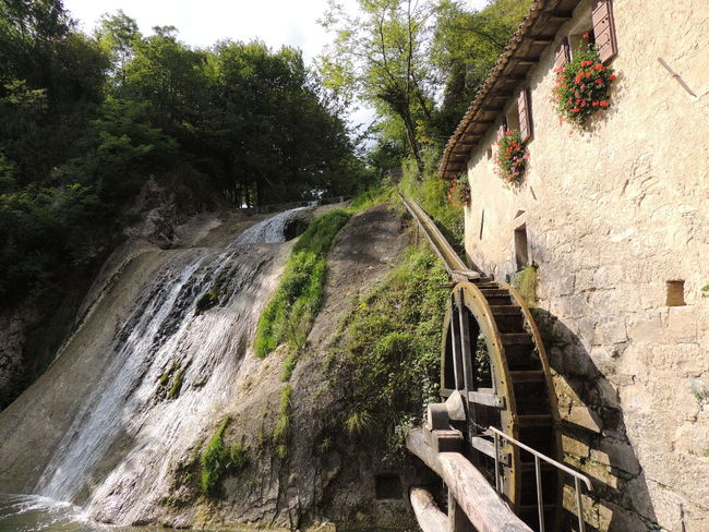 Molinetto Della Croda Architecture Beauty In Nature Built Structure Day Fuel And Power Generation Hydroelectric Power Motion Nature No People Outdoors Tree Water Waterfall Watermill Watermills