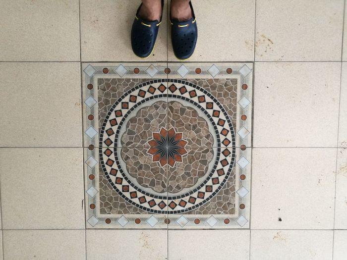 Tiles! Jogjakarta! Crocs! Outdoors Day No People Close-up Crocs Slippers