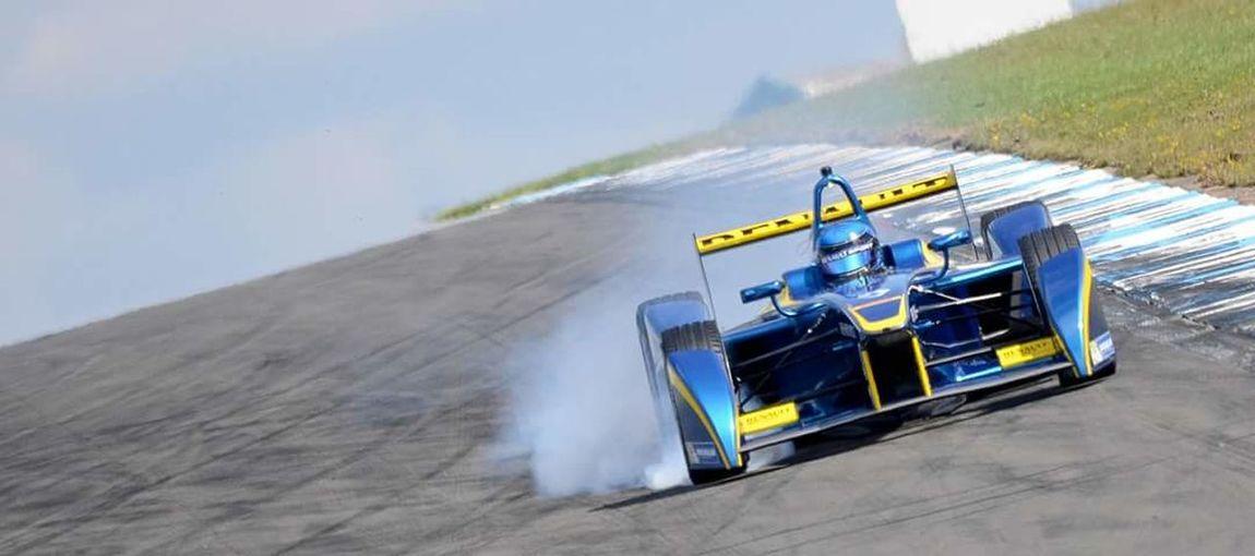 Formula e racing from Donington Park Motorsport Formula E Donington Park Renault Tyre Lock Up Racing Car Racing