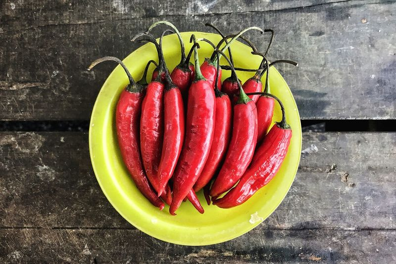 Pepper Red Red Pepper Hot Yellow Food Table Fruit Red Close-up Food And Drink Raw Food