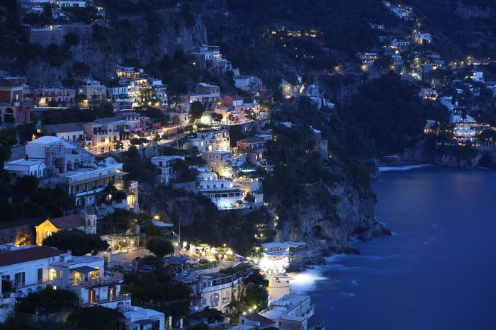 Positano as night falls Positano, Italy Mediterranean  Tadaa Community From My Point Of View EyeEm Best Shots Nightphotography Eye Em Landscape-Collection Eye Em Around The World