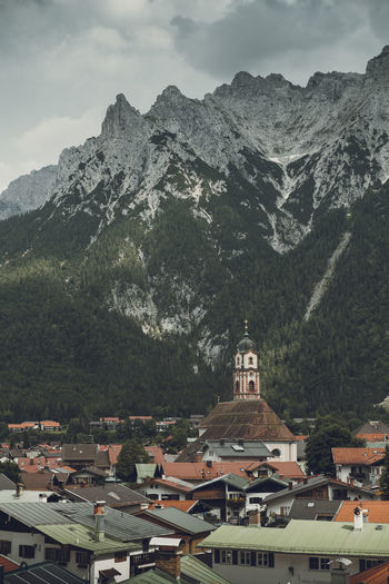 Mountain Architecture Building Mountain Range Town Roof Outdoors Mountain Peak TOWNSCAPE Travel Travel Photography View Rooftops Bayern Bavaria Alps Church