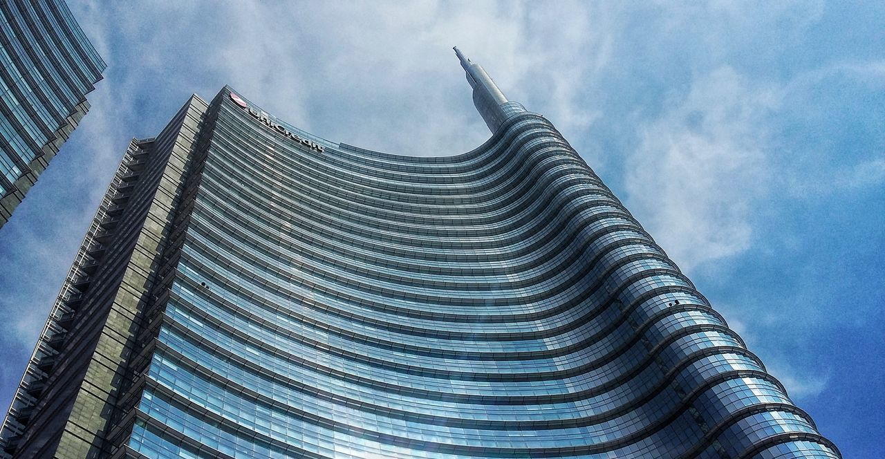architecture, sky, cloud - sky, building exterior, built structure, low angle view, no people, outdoors, day, modern, city, skyscraper