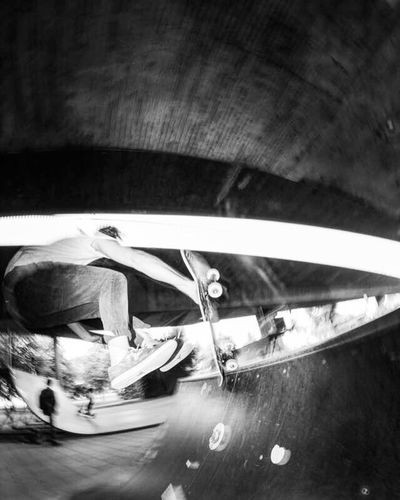 Sk8 Sk8 Motion Blur Fisheye Skateboarding Bw Photography Outdoors Road First Eyeem Photo