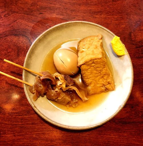 Thick Deep-fried Bean Curd Beef Sinew Egg Hot Foods Oden Japanese  Japan Food And Drink Food Plate Ready-to-eat No People Serving Size Food Stories Close-up Healthy Eating Food Stories
