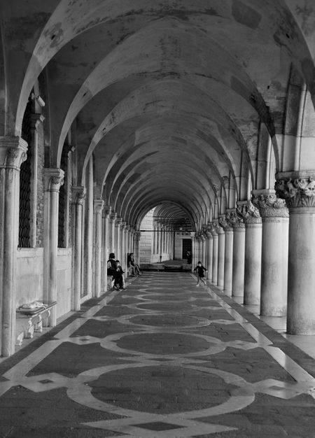City Arcade Arch Architectural Column Architecture Black And White Building Built Structure Ceiling Colonnade Corridor Day Diminishing Perspective Direction Flooring History In A Row Incidental People Indoors  Real People Repetition Street Street Photography The Past The Way Forward