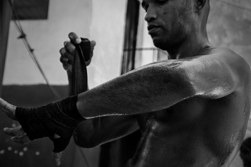 Cuban Boxers Cuban Boxer Portrate Person Boxing Blackandwhite